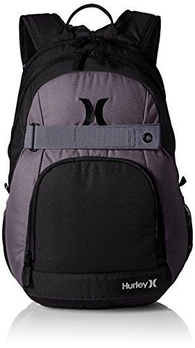 - Hurley Men's Honor Roll Solid Blocked Backpack, Dark Grey/Black, One Size