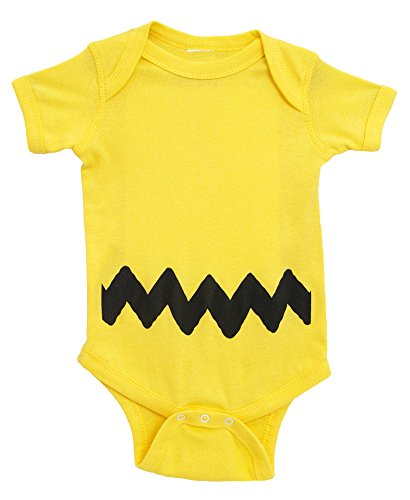 Charlie Brown I Am Charlie Brown Baby Romper Bodysuit (6-12 (Charlie Brown Costume Baby)