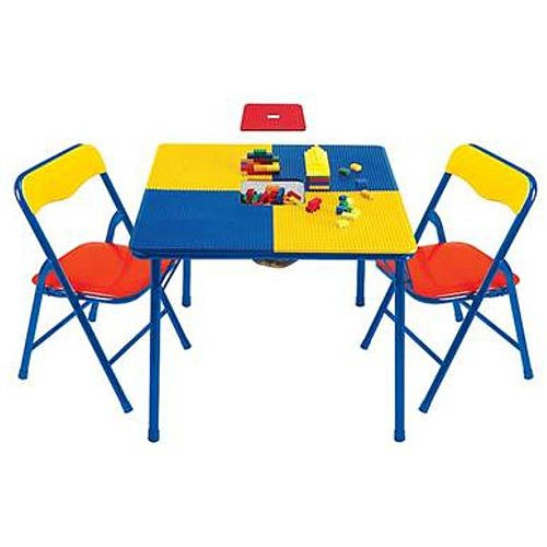 Toys R Us Sturdy Steel Construction Building Block Table With Chairs
