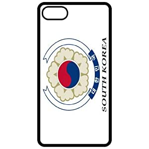South Korea Coat Of Arms Flag Emblem Black Apple Iphone 5 Cell Phone Case - Cover