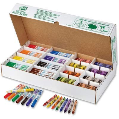 (Crayola My First Washable Markers and Triangular Crayons, 128 Ct. Classpack)