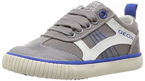 Geox Boys' JR KIWIBOY 89 Slip-On Grey/Royal 36 EU/4 M US Big Kid by Geox (Image #1)
