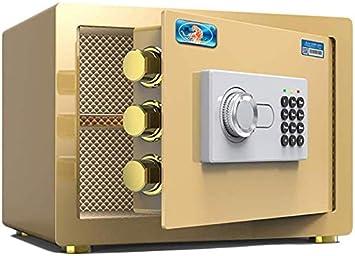 Caja fuerte de negocios Contraseña cajas fuertes, pequeños electrodomésticos Oficina de Acero de seguridad Caja de seguridad Ocultar Armario Mini caja de almacenaje for la Protección de dinero, joyas: Amazon.es: Electrónica