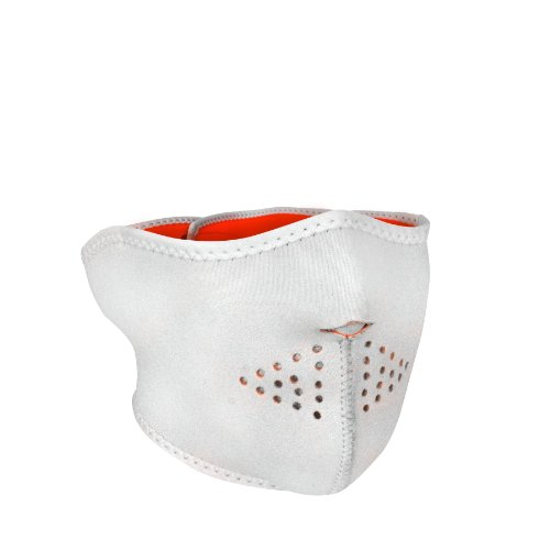 Zanheadgear WNFM089HHV Neoprene Half Face Mask, High-Vis Orange Reversible to White