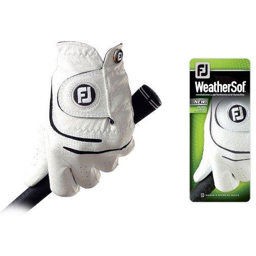 FootJoy WeatherSofゴルフグローブホワイトRight Hand Mens Medium Large   B009ZLS23M