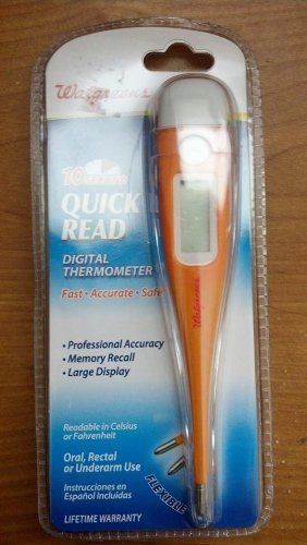 WALGREENS 10 SECOND QUICK READ DIGITAL THERMOMETER FLEXIBLE