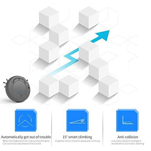 Mini USB Sweeper Robot Sweeping Robot con 3 Modalit/à di Pulizia Robot Aspirapolvere Sensori Anti-Caduta Piastrelle per Pavimenti e Tappeti