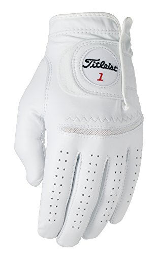 Titleist Perma Soft Golf Glove Mens Reg LH Pearl, White(Medium - Large, Worn on Left Hand)