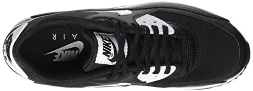 Femme Noir White Essential 90 Air Metallic Nike Black Max Baskets Silver Basses SqYaU