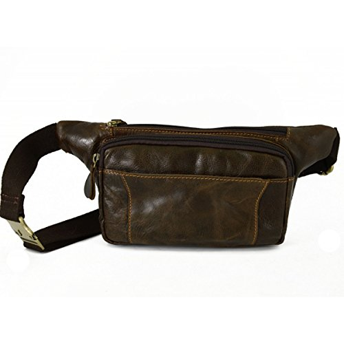 Italy Piel Echa Piel Made Marsupio Hombre Oscuro Marrón in Color Italia En En Verdadera Con Bags Peleteria Leather Verdadera Compartimentos Bolso Dream 2 qXUwzIz