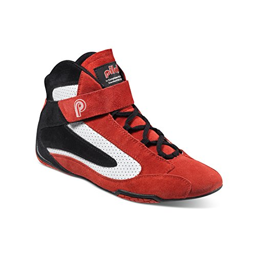 (piloti 00111RED-BLACK-WHITE10 Shoes)