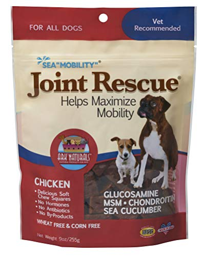 ARK Naturals 326053 Joint rescue Sea Mobility Chicken Jerky Strips for Pets, 9-Ounce (Ark Naturals Happy Traveler)