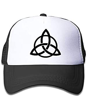 Triquetra Tribal On Kids Trucker Hat, Youth Toddler Mesh Hats Baseball Cap