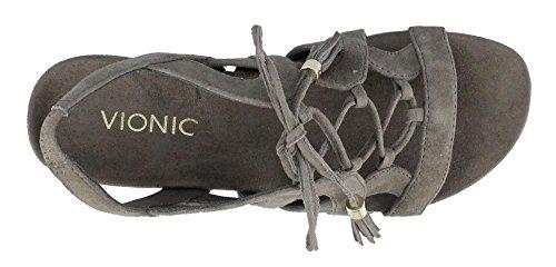 VIONIC Womens Park Greige Sandal Wedge kalie Up Lace rFrx4q6O