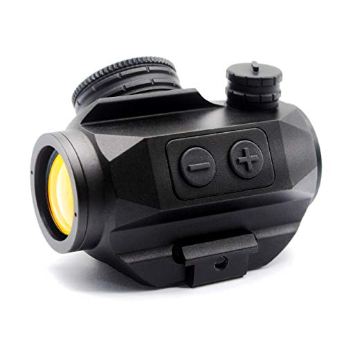 TRIROCK 3-MOA 20mm Reflex Red Dot Sight Scope w/Lens Cover and Riser - Picatinny/Weaver Mount - Night-Vision Compatible, Parallax Free, 1x Magnification (Best Red Dot For Night Vision)