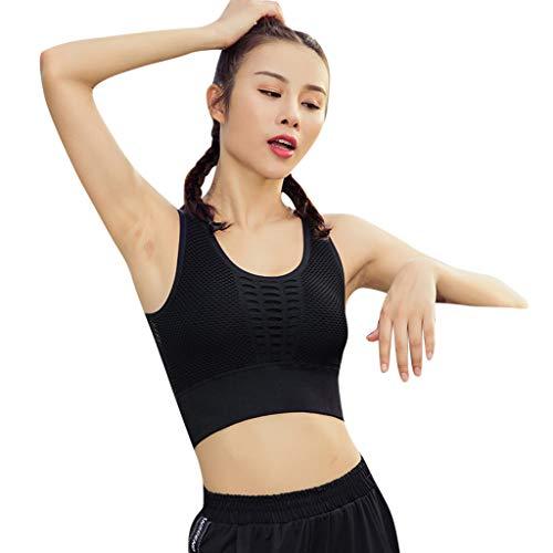 Cross Ring-Free Sports Bra Women Underwear Yoga Fitness Shock-Proof Tops Black -