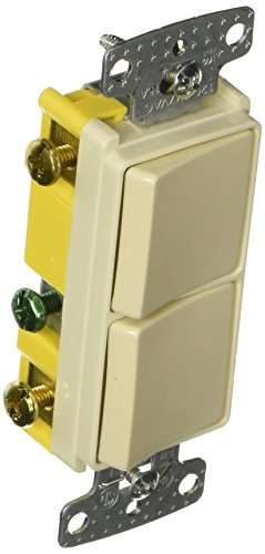 Single Combo Rocker (Hubbell Wiring Systems RCD101LA tradeSELECT Single Pole Combination Quiet 2 Rocker Switch, 15A, 120-277V AC, Light Almond)