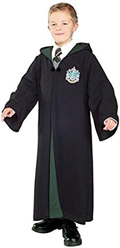 Harry Potter Kostüm Jünger Erwachsene Gryffindor Slytherin Ravenclaw Hufflepuff Adult Child Unisex Schule lange Umhang Mantel Robe--Slytherin, M for adult