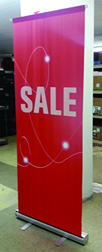 "Banner Stand 33"" x 80"" Metrix Retractable Sale Sign"