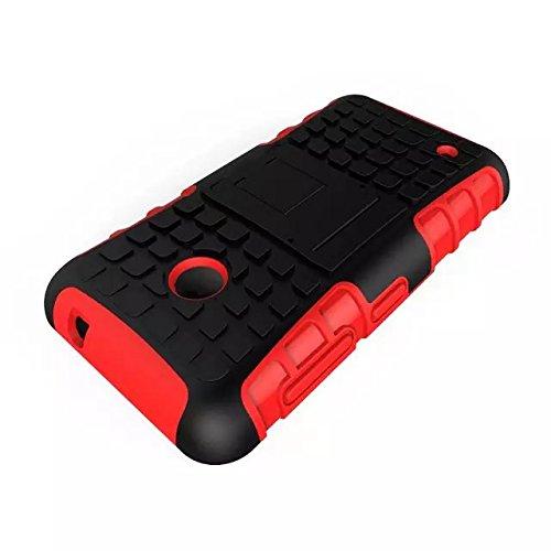 YHUISEN Patrón de neumático de doble capa armadura de amortiguación de la caja de protección con Kickstand para Microsoft Lumia 530 ( Color : Black ) Red