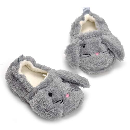 Image of Butterflykisses Baby Girl's Premium Soft Plush Slippers Cartoon Warm Winter House Shoes
