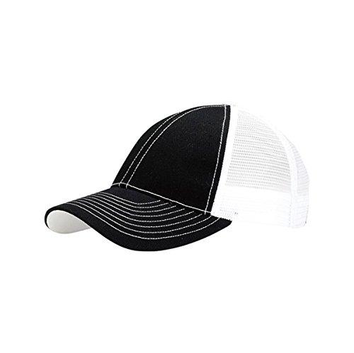 Wholesale Trucker Caps (Hats & Caps Shop Low Profile | (Str) Trucker Cap - By TheTargetBuys | (BLK-WT))