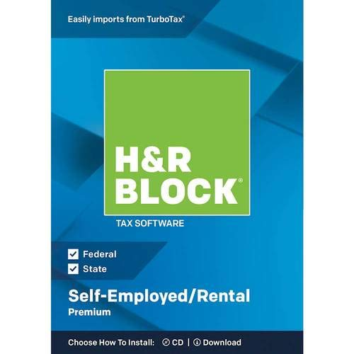H&R Block Premium 2018 Self-Employed/Rental Property Owners Tax Software, Traditional Disc ()