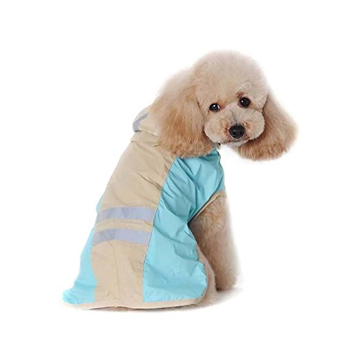 Couture 1 Light Led (Beirui Premium Dog Reflective Raincoat Waterproof and Lightweight with Hat,Blue,XL)
