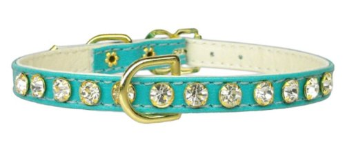 Mirage Pet Products No.16 Dog Collar, 8-Inch, Turquoise