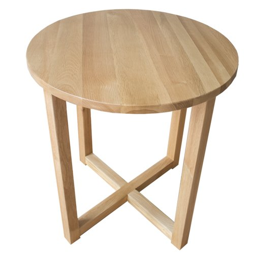 Yabbyou Tall Solid Oak Small Round Oak Coffee Table 45cm Wide (Light Oak):  Amazon.co.uk: Kitchen U0026 Home