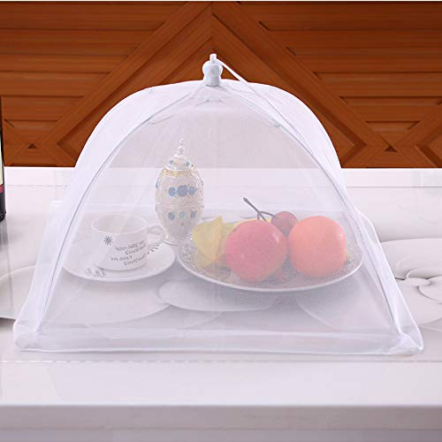 17''x17'' Pop-Up Mesh Screen Food Cover Tents - Keep Out Flies, Bugs, Mosquitos - Reusable and Collapsible(6 Pack) by Casolly (Image #1)