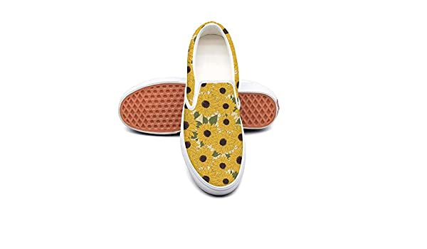 Sunflower Decorative Flower Classic Canvas Shoes Slip On Skate Sneakers Womens Fashion Print Original Durable