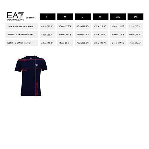 Emporio V T Noir Gris Homme Manches Bleu shirt Col Ea7 Noir 3yptl8 Armani Courtes 0rq50
