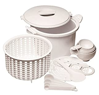 Prep Solutions by Progressive Microwaveable Rice and Pasta Cooker-17 Piece Set Includes Measuring Spoons and Cups, Rice Paddle, Steaming Insert, Pasta Measurer and Locking Lid-12 Cup Capacity BPA FREE (B00004RDFG) | Amazon price tracker / tracking, Amazon price history charts, Amazon price watches, Amazon price drop alerts