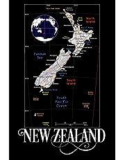 New Zealand: Map of New Zealand Notebook