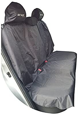 Seat Saver Back Seat Bench - Waterproof Removable Universal Car Seat Cover - Easy on and Off