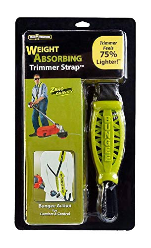 Good Vibrations Zero Gravity - Universal Weight Absorbing String Trimmer Strap with Bungee PRO-X System & Deluxe Comfort Shoulder Pad - Reliefs Body Tensions & Stabilizes Trimmer for Maximum - Universal Grass