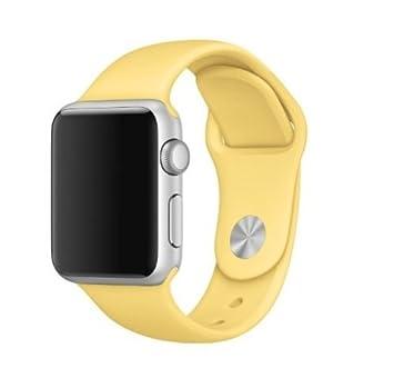 f6bc9807c72 Pulseira Sport em Silicone para relógio Apple Watch 42mm Series 3 2 1  (Amarelo 42mm