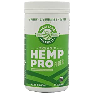 Manitoba Harvest HEMP PRO FIBER, 16 Ounce Tubs (Pack of 2)