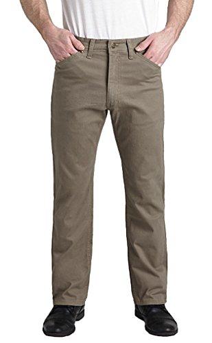 Grand River Big and Tall Mens Comfort Stretch Twill Pant (Khaki 56W x 32L)