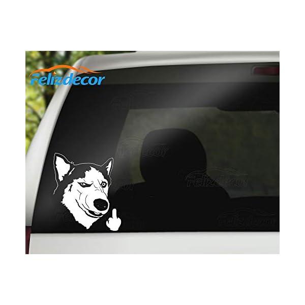 "Felizdecor Vinyl Animals Car Sticker Husky Dog Decal Waterproof Removable Car Decor,Laptop Decals (6"", L450) 3"