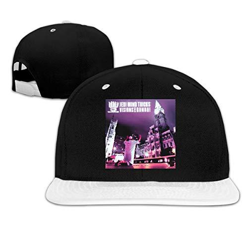 ThomLarryCA Jedi Mind Tricks Visions of Gandhi Hat Unisex Hip Hop Baseball Cap White One Size