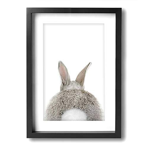 Kingsleyton Bunny Rabbit Butt Canvas Wall Framed Canvas Prints Ready to Hang for Wall Decor