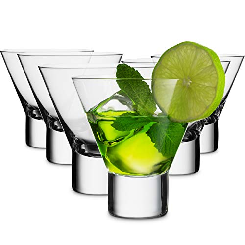 MITBAK 8 – Ounce Martini Glasses (Set of 6) | Elegant cocktail Cups | Great for Martini, Cocktail, Whiskey, Liquor…