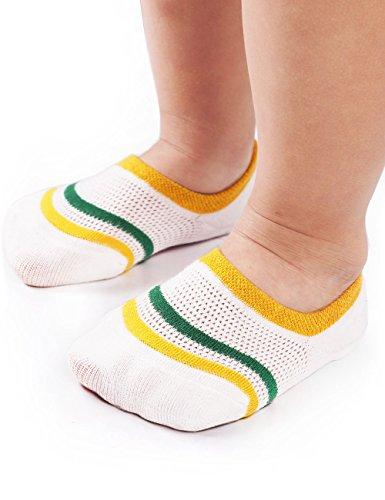 BabaMate 6 Pairs Baby Boys' Socks - Anti-Skid No Show Socks for Toddler