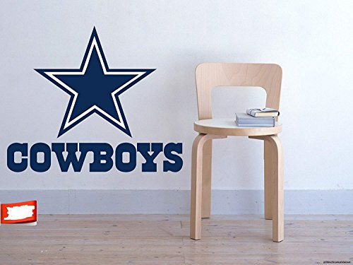 Logo Wall Decal - PillowFigtArt Full Color Dallas Cowboys Decal, Full Color Dallas Cowboys Sticker, Full Color Dallas Cowboys Wall Decal,Dallas Cowboys Logo Decal, NFL Logo Decal, Dallas Cowboys pf33 (22