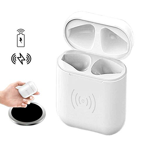 POWVAN Wireless Charging Case Replacement of Air pods Charger Case, Fast Charging Built-in Batteries Supply 24 Hours Power Compatible with AirPods, NO Connecting Button