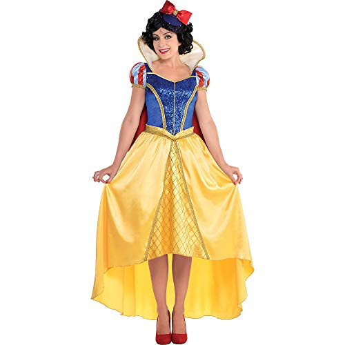 Costumes USA Snow White and The Seven Dwarfs Snow White Costume Couture for Adults, Size Medium, Includes Dress and Hat -