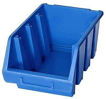 2 x Ergo L+ Azul apilables Cajas de almacenamiento caja de plástico 170x240x126: Amazon.es: Hogar