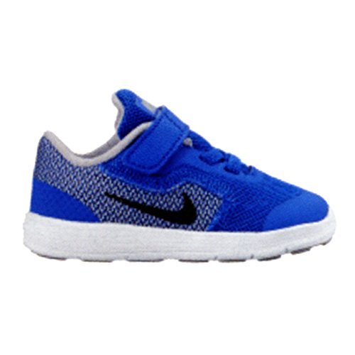 NIKE Boys' Revolution 3 (Tdv) Running-Shoes, Game Royal/Black/Wolf Grey/White, 8 M US Toddler